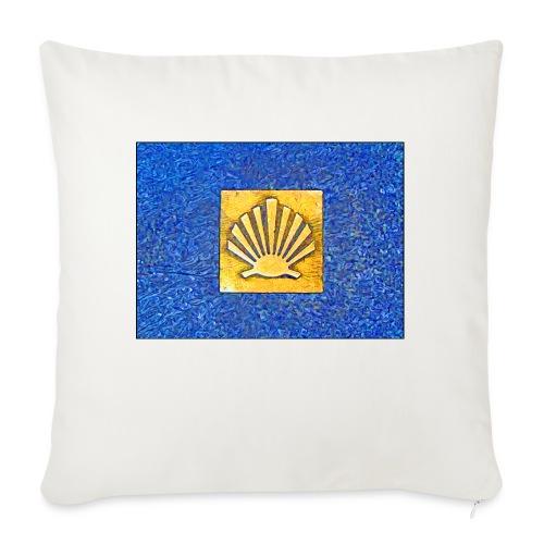 Scallop Shell Camino de Santiago - Sofa pillowcase 17,3'' x 17,3'' (45 x 45 cm)