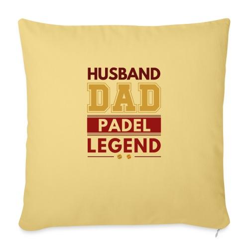Man Pappa Padel Legend - Soffkuddsöverdrag, 45 x 45 cm