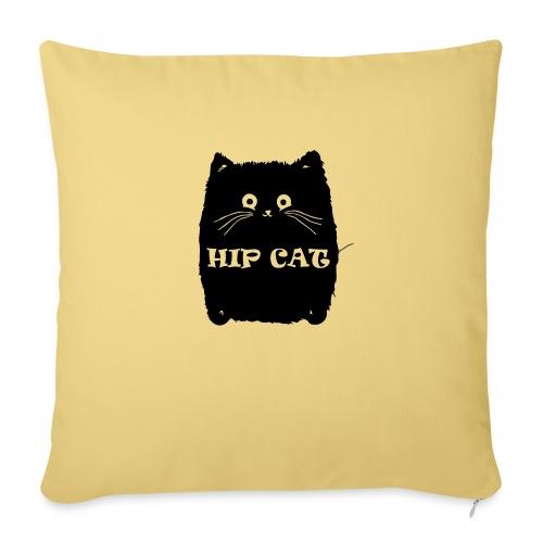 HIP CAT - Housse de coussin décorative 45x 45cm