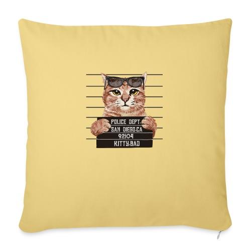 kitty bad - Housse de coussin décorative 45x 45cm