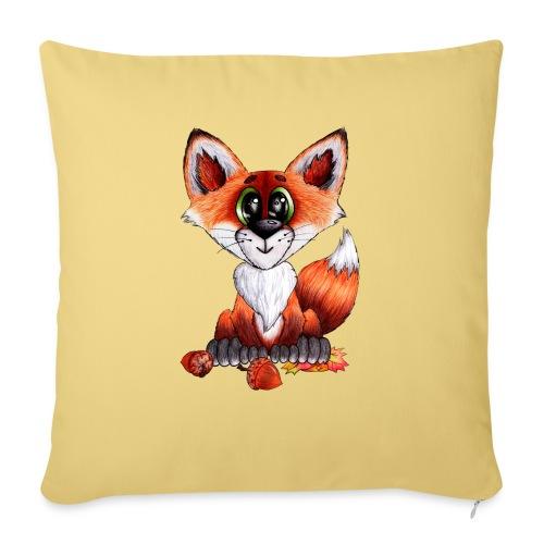 llwynogyn - a little red fox - Sohvatyynyn päällinen 45 x 45 cm