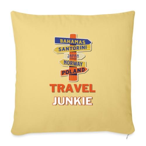 traveljunkie - i like to travel - Sofakissenbezug 44 x 44 cm