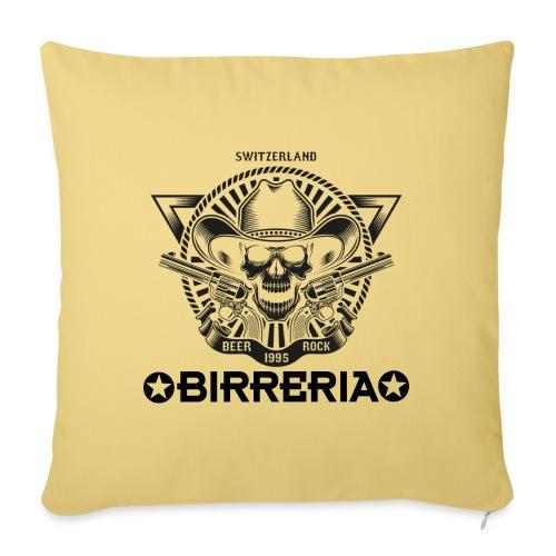 Sheriff Skull with Revolver - Sofakissenbezug 44 x 44 cm