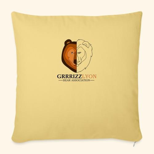Grrrizzlyon - Housse de coussin décorative 45x 45cm