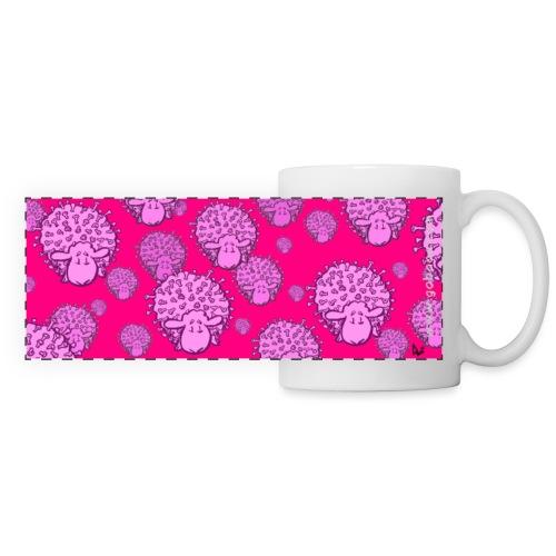 Virus Sheep mug (fluor pink edition) - Mug panoramique contrasté et blanc