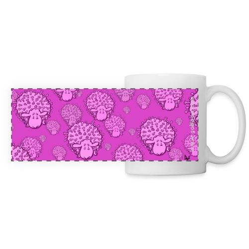 Tasse Virus Sheep (édition rose) - Mug panoramique contrasté et blanc