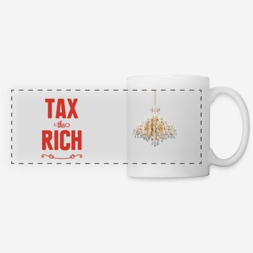 Tax the Rich, röd, muggtryck - Panoramamugg