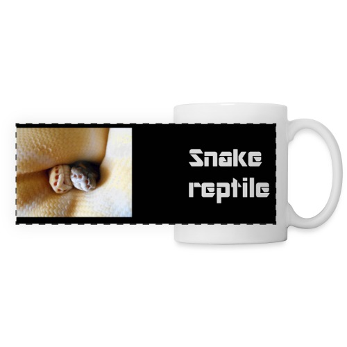 couple python snake reptile jpg - Mug panoramique contrasté et blanc