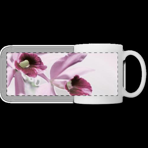 Orchid Vase Watercolor Minimalist - Panoramic Mug