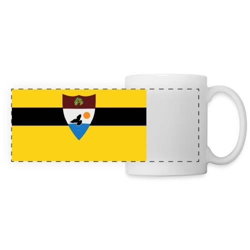 Liberland_flag - Mug panoramique contrasté et blanc