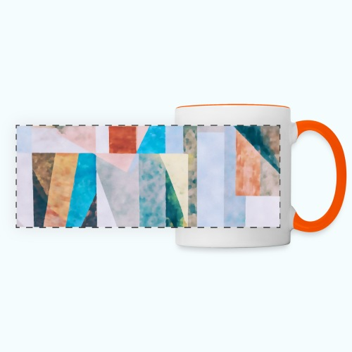 Abstract geometry watercolor - Panoramic Mug