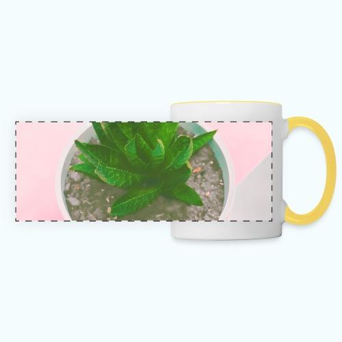 Minimalism plants composition - Panoramic Mug