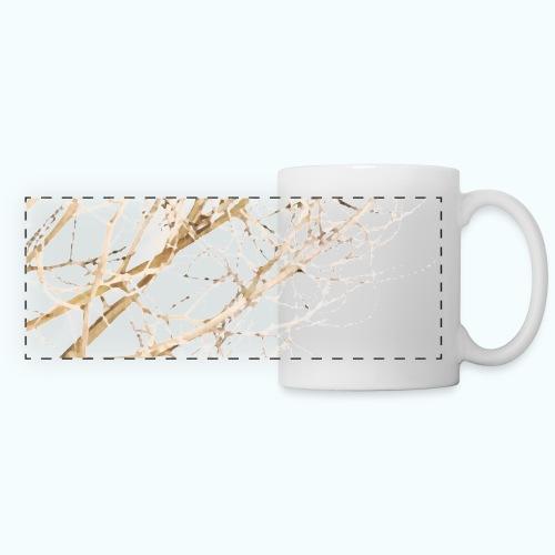 Grass beige minimalism watercolor nature - Panoramic Mug