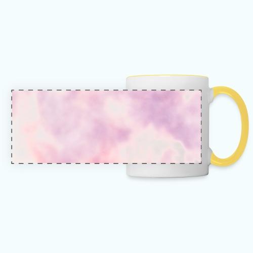 Pink clouds watercolor sky - Panoramic Mug