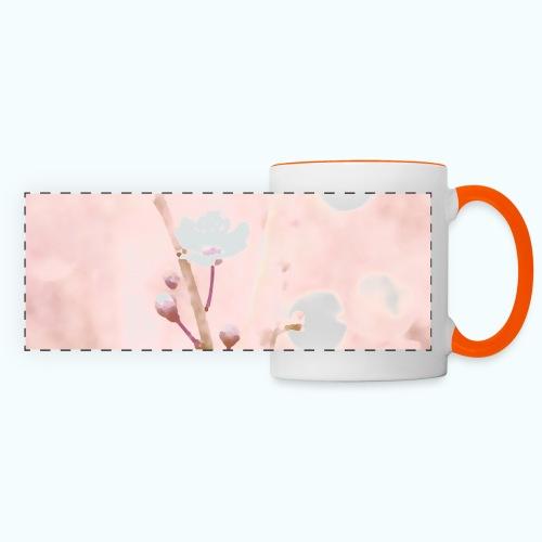 Cherry tree watercolor minimalism - Panoramic Mug