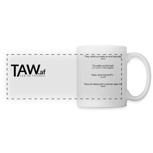 taw.af logo quotes mug - Panoramic Mug