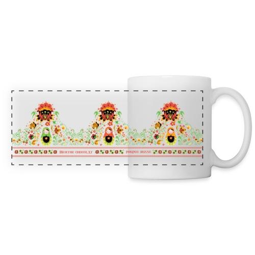 Poupée Russe 2b - Mug panoramique contrasté et blanc