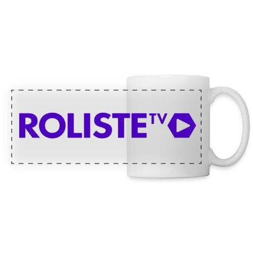 Logo Rôliste TV - Mug panoramique contrasté et blanc