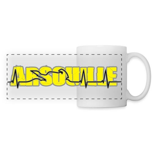 Arsouille Battement Coeur - Mug panoramique contrasté et blanc