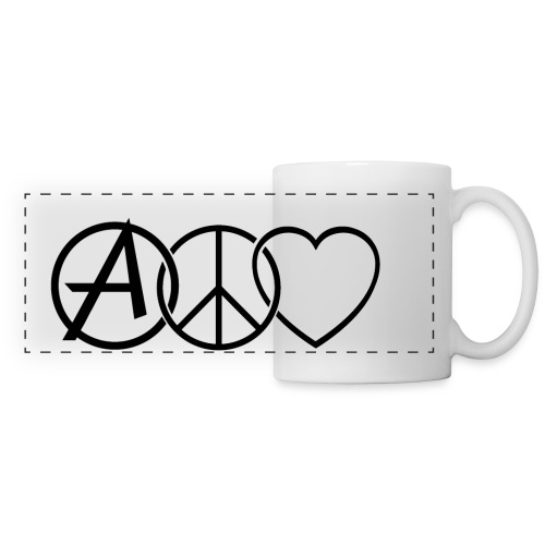 ANARCHY PEACE & LOVE - Panoramic Mug