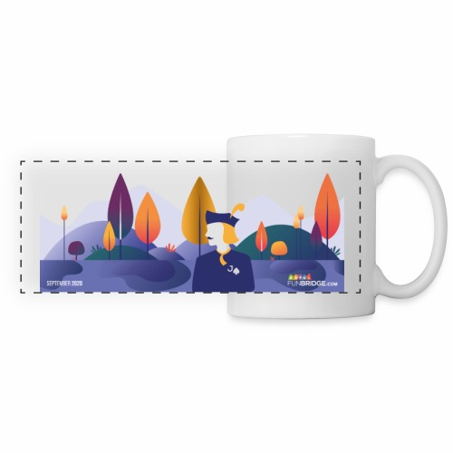 September Funbridge Collector's Mug - Mug panoramique contrasté et blanc
