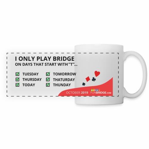 October Funbridge Collecto'rs mug - Mug panoramique contrasté et blanc