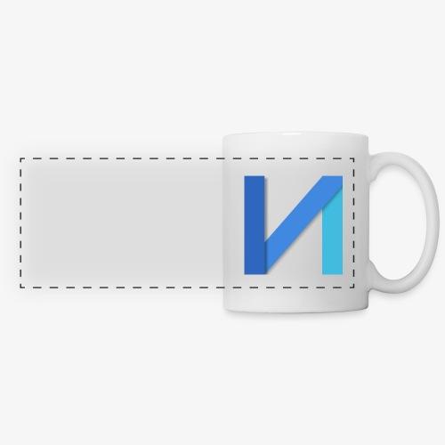 square logo png - Mug panoramique contrasté et blanc