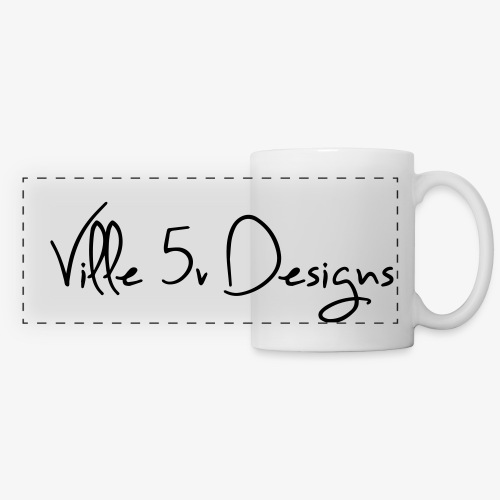 ville5v designs - Mug panoramique contrasté et blanc