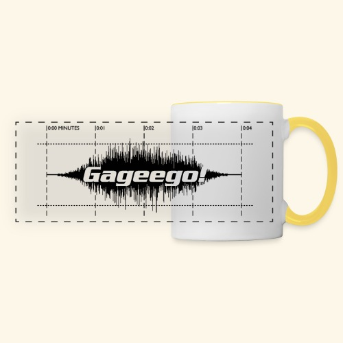 Gageego logga vit text - Panoramamugg