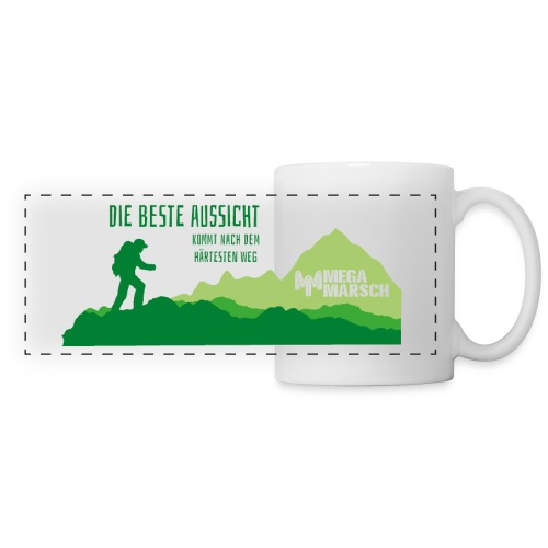 Megamarsch Die beste Aussicht (grün) - Panoramatasse