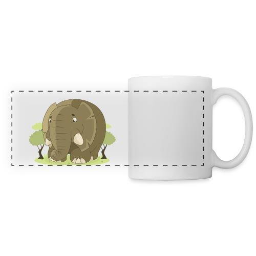 elephant - Mug panoramique contrasté et blanc