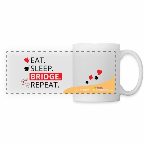 July Funbridge Collector's Mug - Mug panoramique contrasté et blanc