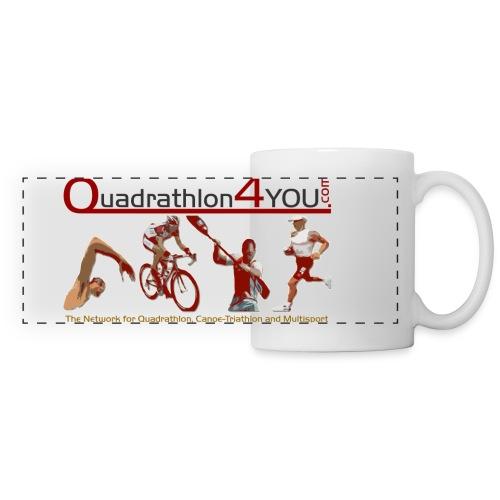 Q4U Logo bunt - Panoramic Mug