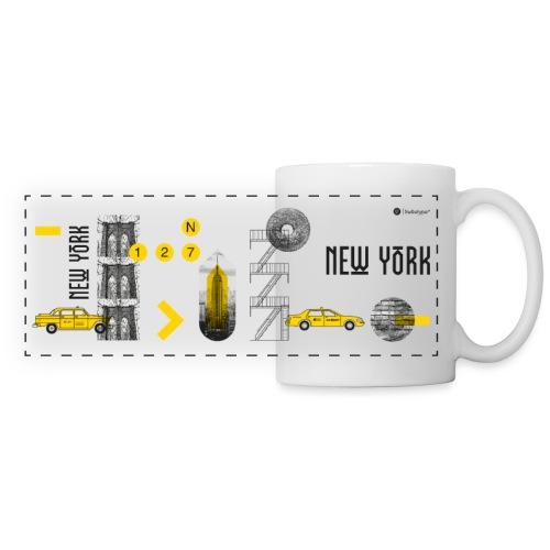 NEW YORK - Mug panoramique contrasté et blanc