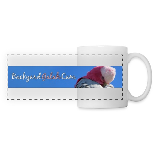 galah logo bird banner - Panoramic Mug