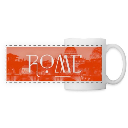 Rome - Mug panoramique contrasté et blanc
