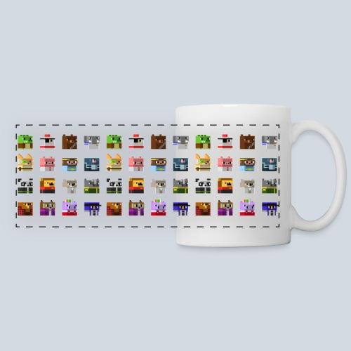 animals_pixel_panorama - Mug panoramique contrasté et blanc