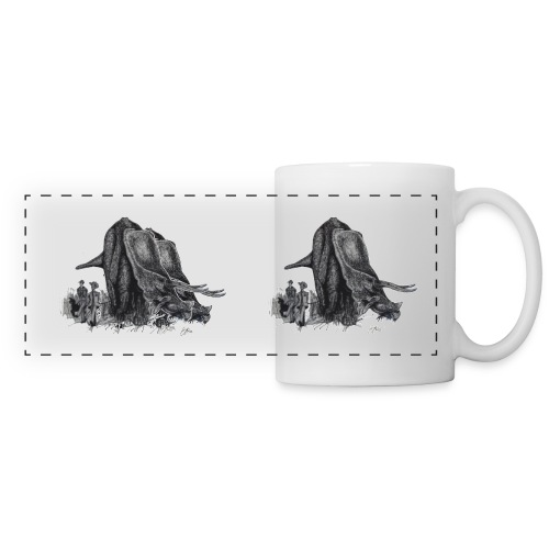 Walking My Triceratops - Panoramic Mug