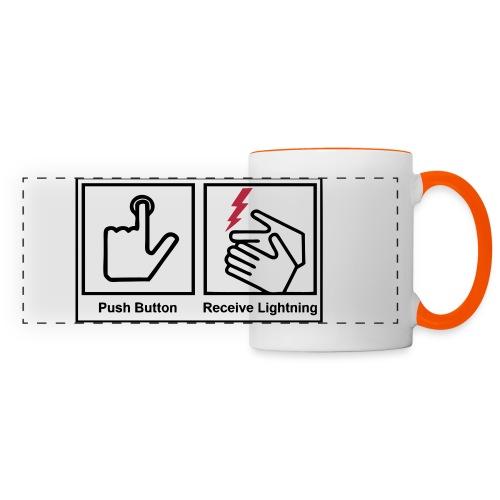 push button receive light - Panoramic Mug