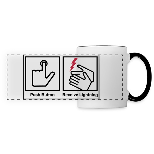 push button receive light - Panoramic Mug