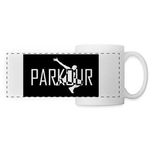 parkour logo jpg - Panoramic Mug