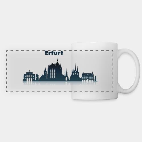 Erfurt Skyline mit Schriftzug - Panoramatasse