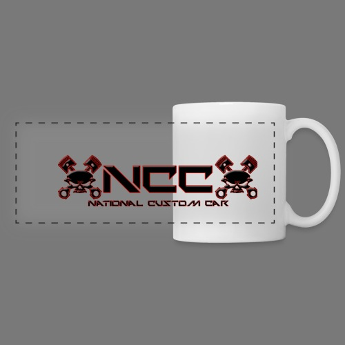Logo-casquette-2 - Mug panoramique contrasté et blanc