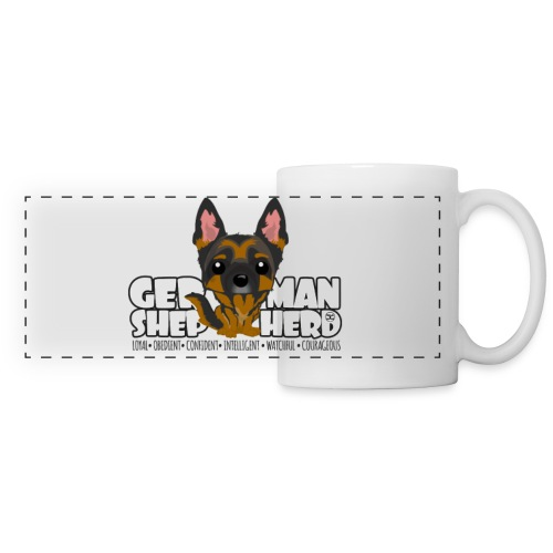 DGBigHead - German Shepherd | mug - Panoramic Mug