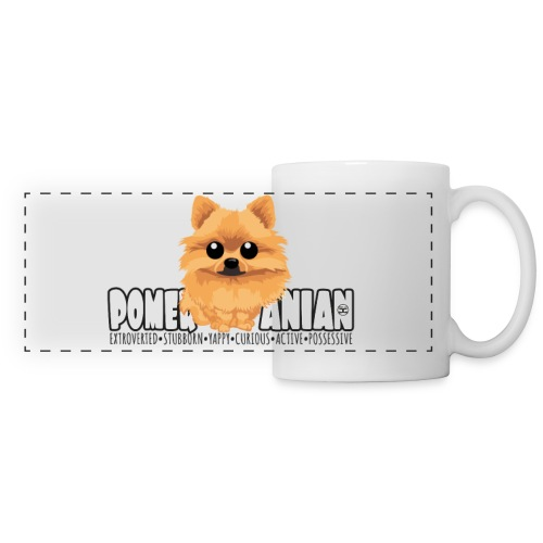 Pomeranian - DGBigHead | mug - Panoramic Mug