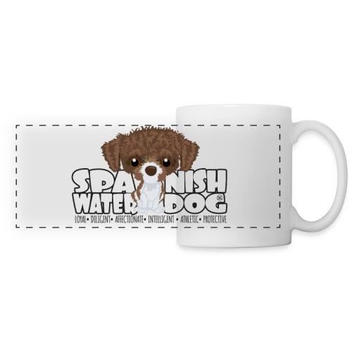 Spanish Water Dog (Brown & White) - DGBigHead | mug - Panoramic Mug