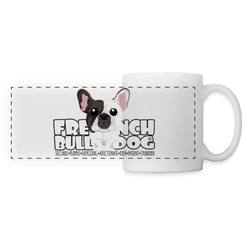 French Bulldog (Brindle Pied) - DGBigHead | mug - Panoramic Mug