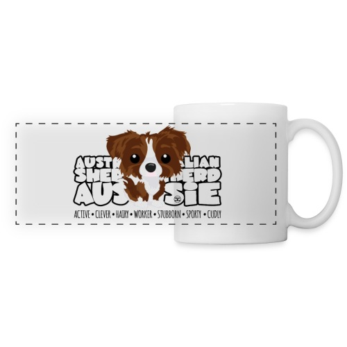 Aussie (Brown & White) - DGBigHead | mug - Panoramic Mug