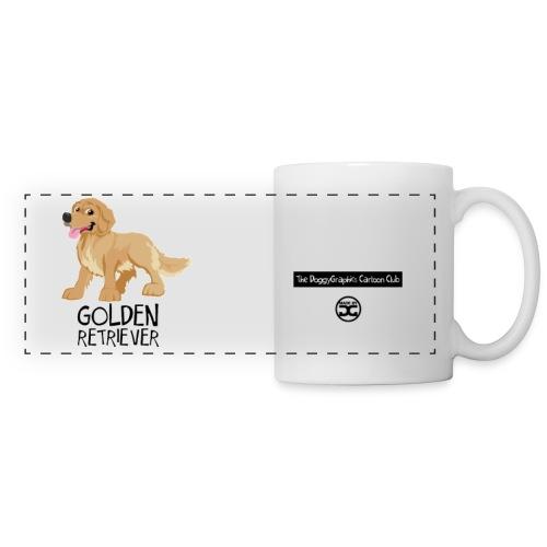 Golden Retriever CartoonClub | mug - Panoramic Mug