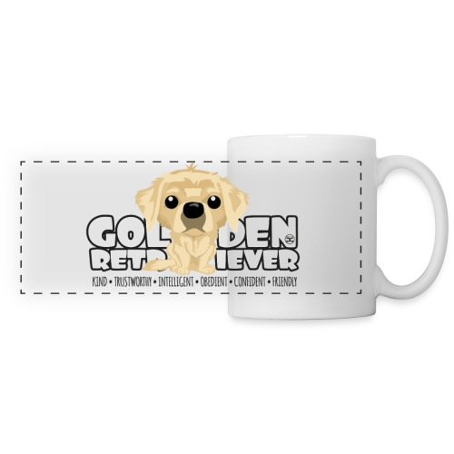 Golden Retriever - DGBigHead | mug - Panoramic Mug